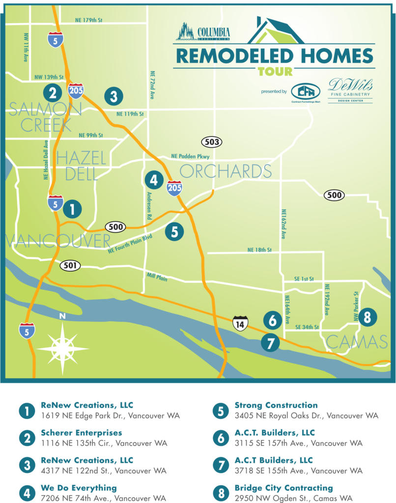 Remodeled Homes Tour map